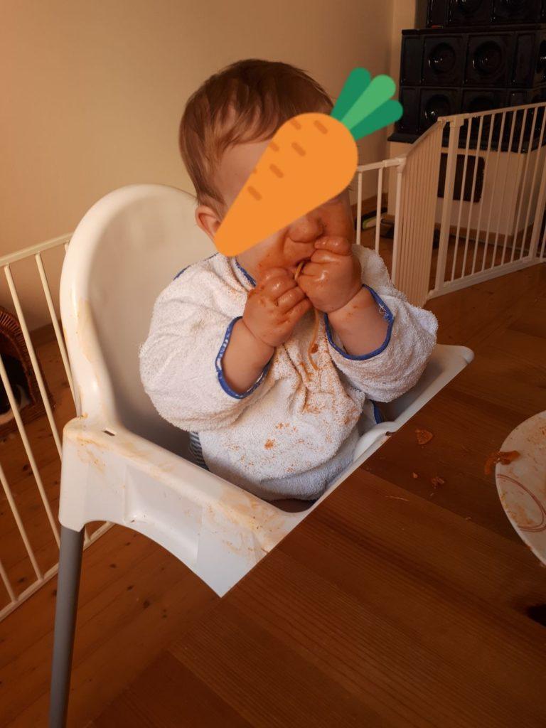 Spaghetti als Lebensmittel für BLW