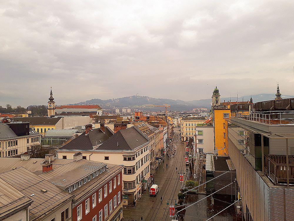 Ausblick über Linz beim Sinnesrausch