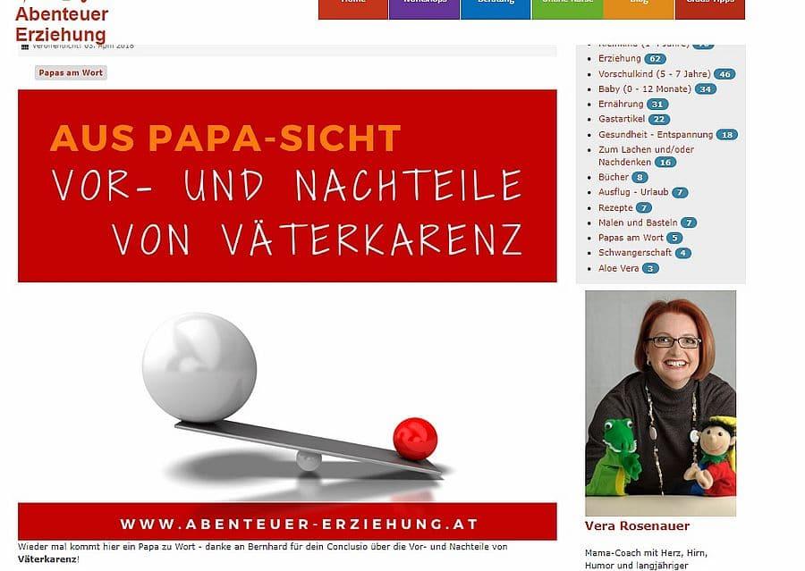 Gastbeitrag von Bernhard Desch papazuhause bei Abenteuer Erziehung