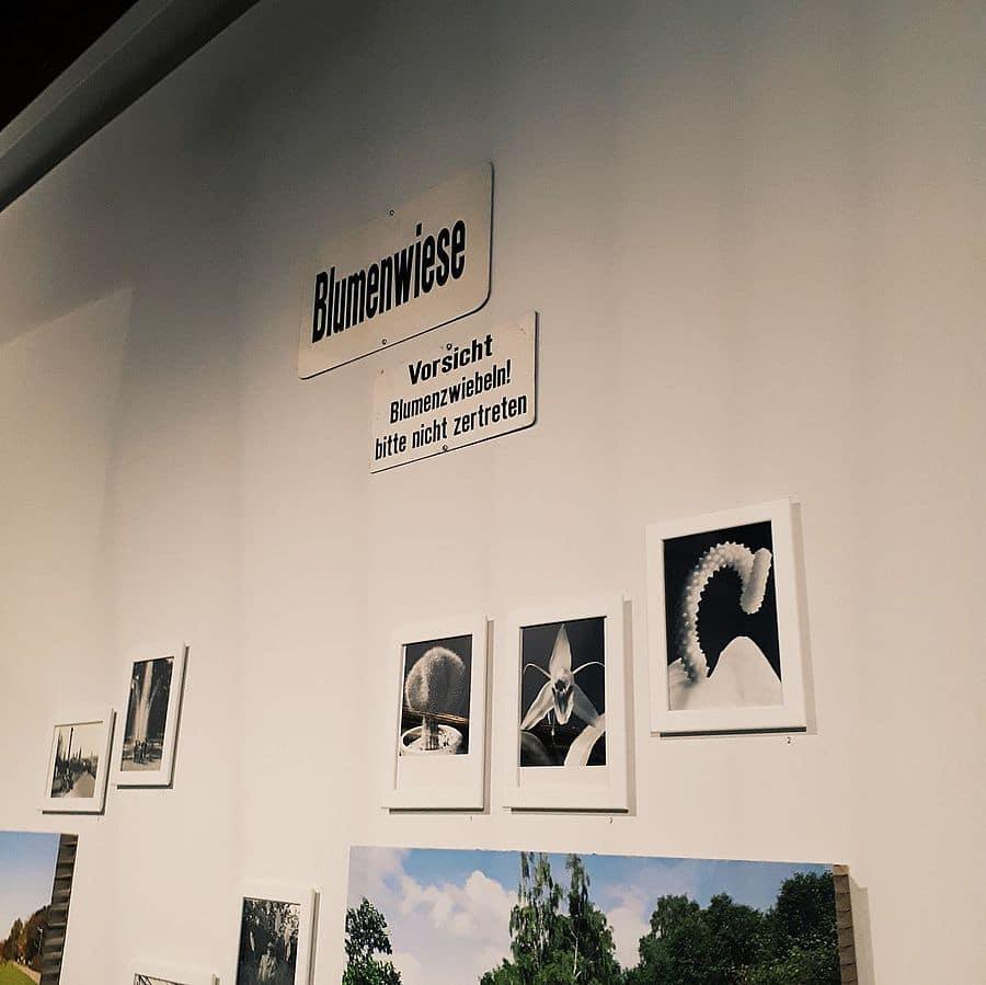 Schilder in der Ausstellung Stadtoasen im NORDICO Stadtmuseum in Linz