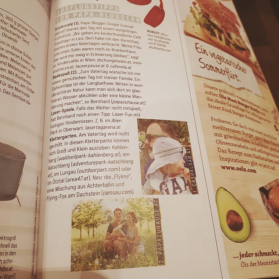 Gastbeitrag von Bernhard Desch papazuhause im WOMAN Magazin