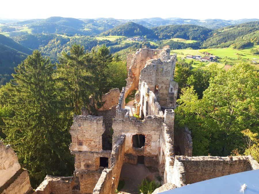 Burgruine Prandegg Ausflugsziel Oberösterreich